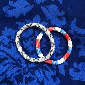 Beaded bracelets, set of 2